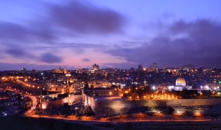 israel people: Skyline of the old city of Jerusalem, Israel.