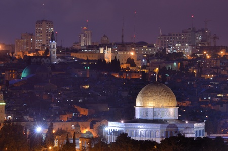 Skyline of the old city of Jerusalem, Israel  photo