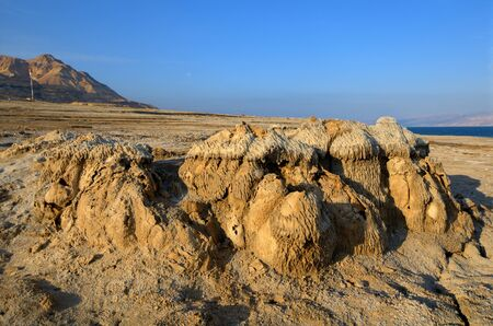 Sand and salt formations near the Dead Sea of Israel