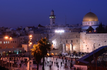The Western Wall is the remnant of the ancient wall that surrounded the Jewish Temple