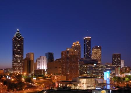 Skyline of downtown Atlanta, Georgia Stock Photo