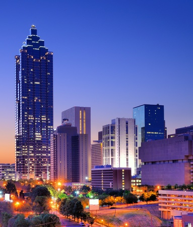 atlanta: skyline in downtown Atlanta Stock Photo