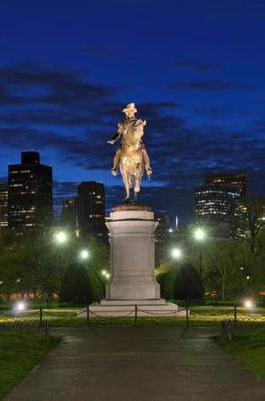 George Washington Equestrian Statue at Public Garden in Boston, Massachusetts. Stock Photo - 13109966