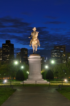 George Washington Equestrian Statue at Public Garden in Boston, Massachusetts. Stock Photo - 13109966