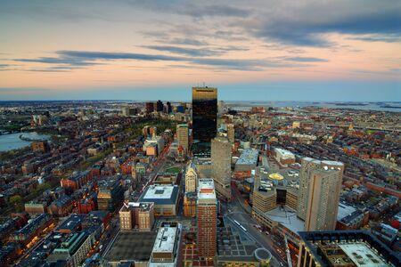Aerial view of downtown Boston, Massachusettes, USA. photo