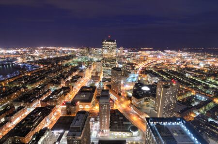 Aerial view of downtown Boston, Massachusettes, USA. photo