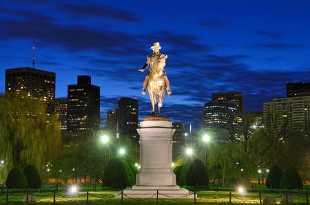 boston: George Washington Equestrian Statue at Public Garden in Boston, Massachusetts.