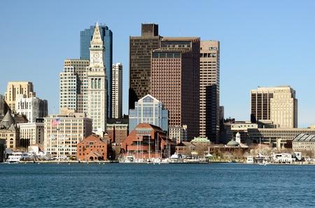 colonade: Downtown Boston, Massachusetts skyline Stock Photo