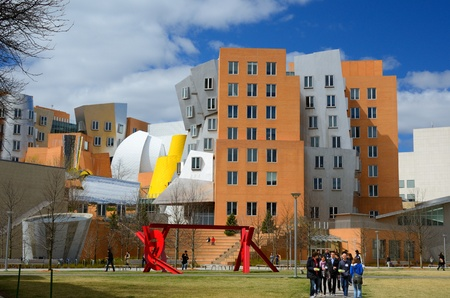 frank gehry: BOSTON - APRIL 5:  Ray and Maria Stata Center on the campus of MIT April 5, 2012 in Boston, MA. The academic complex was designed by Pritzker Prize-winning architect Frank Gehry.