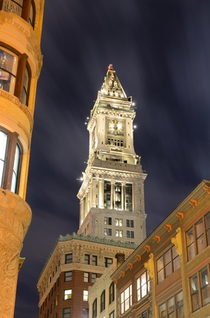 The historic Custom House Tower built 1915 in Boston, Massachusetts