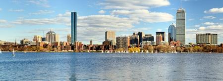 boston cityscape: Financial District of Boston, Massachusetts