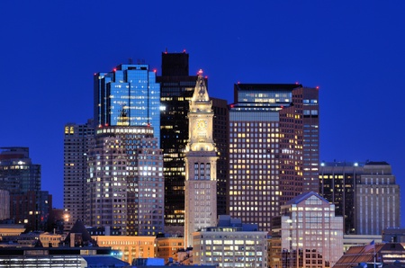 boston skyline: Financial District of Boston, Massachusetts