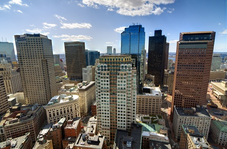 High rises in the financial district of Boston, Massachusetts. Stock Photo - 13159416