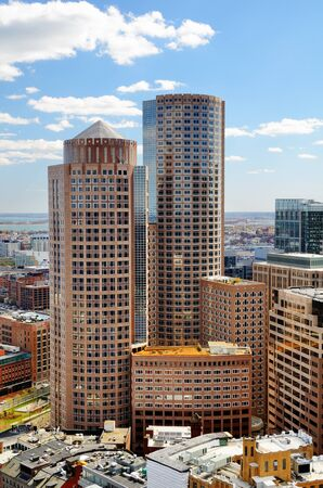 high rises: High rises in the financial district of Boston, Massachusetts.