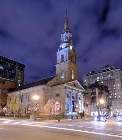 Arlington Street Church in Boston, Massachusetts. The present building was completed in 1861. photo