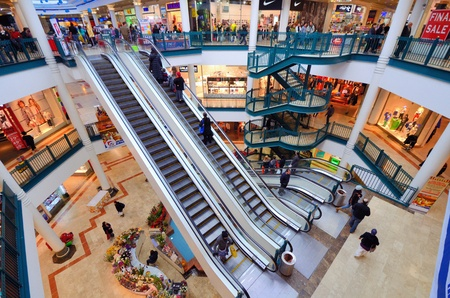 israelis: Malha Mall February 19, 2012 in Jerusalem, IL. One of seven built by David Azrieli, the Malha Mall opened in 1993 with 260 stores and a shopping area of 37,000 m².  Editorial