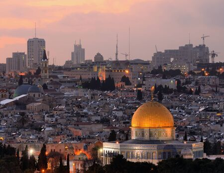 Dome of the Rock along the Skyline of Jerusalem, Israel. photo