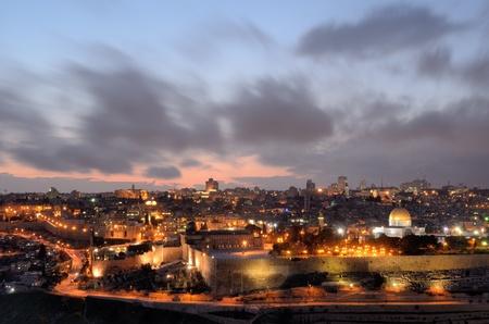 al aqsa: Dome of the Rock along the Skyline of Jerusalem, Israel.