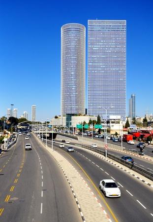 ramat aviv: skyline of Tel Aviv, Israel. Stock Photo