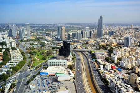 Aerial skyline of Tel Aviv, Israel. Stock Photo - 13237698