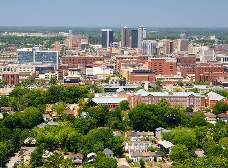 alabama: Metropolitan Skyline of downtown Birmingham, Alabama, USA. Stock Photo