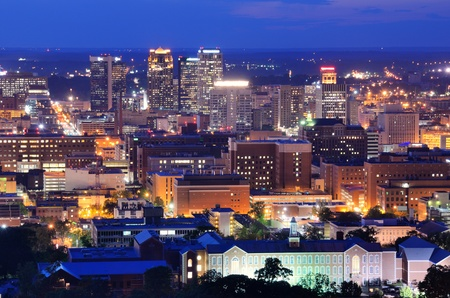 Metropolitan Skyline of downtown Birmingham, Alabama, USA. photo