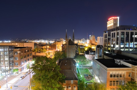 the skyline of downtown Birmingham, Alabama, USA. photo