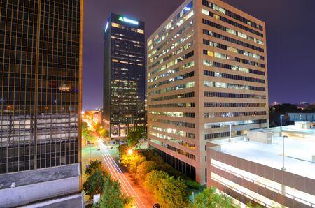 Urban scen along 5th Ave in downtown Birmingham, Alabama.