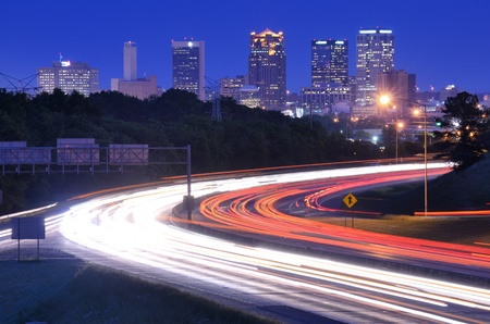 Skyline of Birmingham, Alabama from above Interstate 65. photo