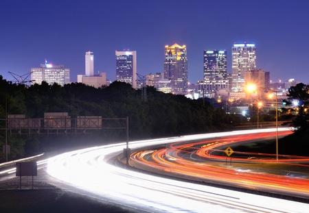Skyline of Birmingham, Alabama from above Interstate 65. photo