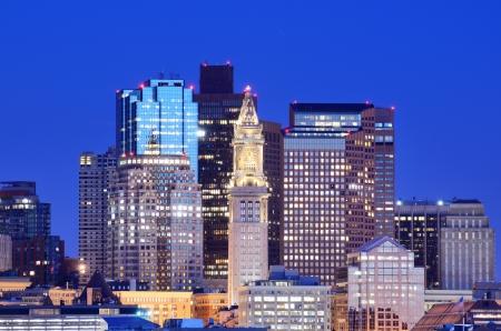 Financial District of Boston, Massachusetts viewed from Boston Harbor. Stock Photo - 13429182