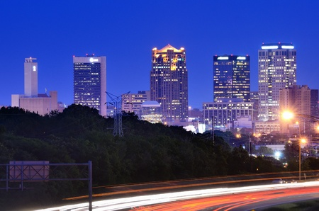 alabama: Skyline of Birmingham, Alabama from above Interstate 65.