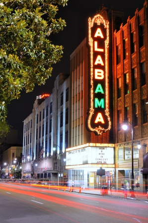 surviving: BIRMINGHAM, ALABAMA - APRIL 26: Alabama Theatre April 26, 2012 in Birmingham, AL. Built by Paramount in 1927, it is the sole surviving venue in a once prominent theater district.