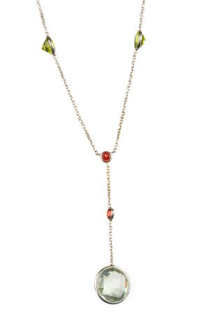 gem necklace on a display rack Stock Photo - 13596187