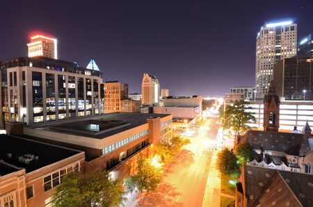 alabama: Birmingham, Alabama, USA Skyline at night