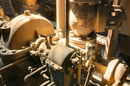 old machinery parts in a mill Stock Photo - 13596220