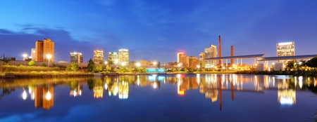 alabama: Skyline of Birmingham, Alabama from Railroad Park. Stock Photo
