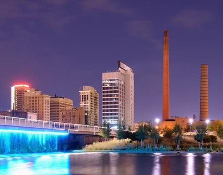Skyline from Railroad Park in Birmingham, Alabama, USA