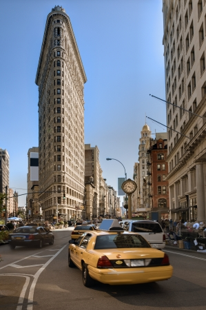 The Flatiron District, a historic neighborhood in the New York City borough of Manhattan