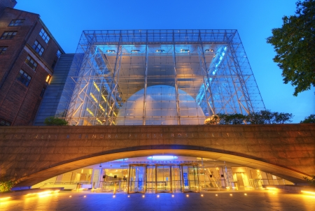 directed: NEW YORK CITY - MAY 13: Hayden Planetarium, part of the American Museum of Natural History, is directed by the famed astrophysicist Dr. Neil deGrasse Tyson May 13, 2012 in New York, New York.