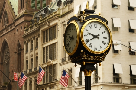 new york: old clock on the avenues of new york city