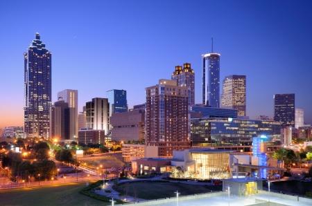 Morning view du centre d'Atlanta, en Géorgie, aux États-Unis. Banque d'images