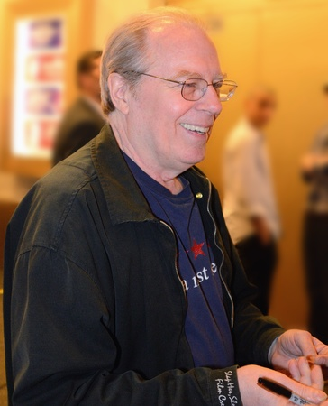 NEW YORK CITY - MAY 18: Michael McKean signing after a performance of The Best Man May 18, 2012 in New York, NY. His leg was broke May 22 in a car accident and he had to relinquish his role.