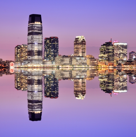 skylines: Exchange Place in Jersey City, New Jersey, USA