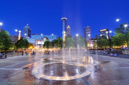 ATLANTA - 2 juni: Centennial Olympic Park Stockfoto - 14136713