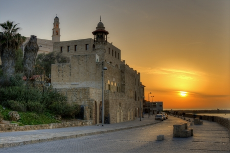 amurallados: Antiguo Yaffa Walled City en Tel Aviv, Israel