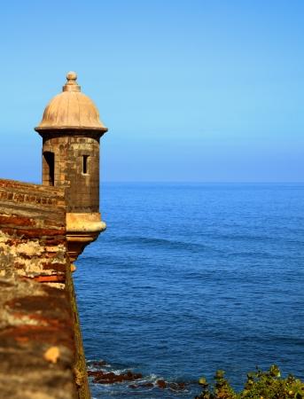 sentry: Sentry Box at Castillo San Cristobal, a historic Spanish colonial fortress in San Juan, Puerto Rico