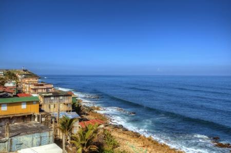 シャンティのサンファン、プエルトリコのカリブ海岸に沿って 写真素材