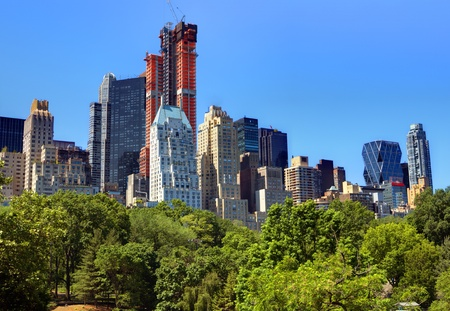 skyline of Central Park South in New York City