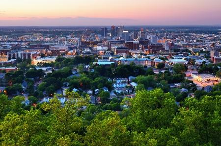 alabama: Metropolitan Skyline of downtown Birmingham, Alabama, USA. Editorial